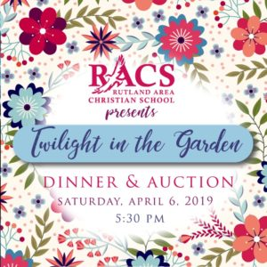 Twilight in the Garden Auction and Dinner @ Rutland Area Christian School | Rutland | Vermont | United States